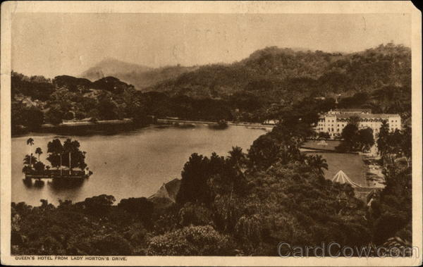 The Queen's Hotel from Lady Horton's Drive Kandy Sri Lanka
