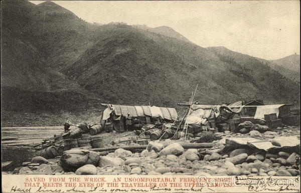 Saved From the Wreck, Yangtze River China