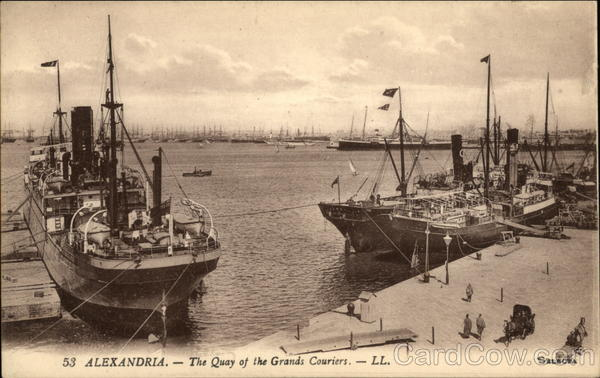 The Quay of the Grands Couriers Alexandria Egypt Africa