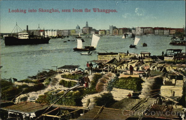 View from the Whangpoo Shanghai China