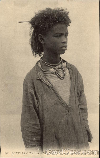 Egyptian Types and Scenes - A BIsharin Boy Africa