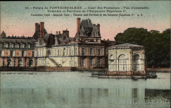 General View of the Palace at Fontainebleau France