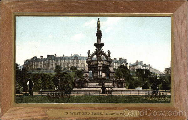 View of West End Park Glasgow Scotland