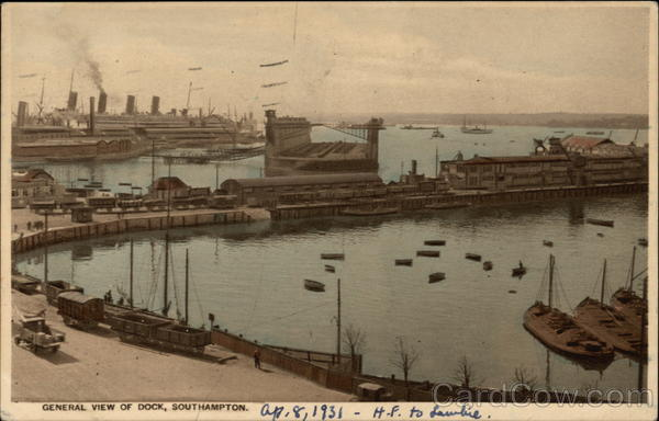 General View of Dock Southampton England Hampshire