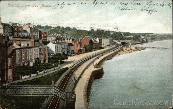 View from Lea Mount Dawlish England