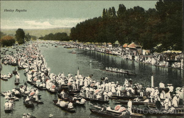 Crowds View the Henley Regatta Henley-on-Thames United Kingdom