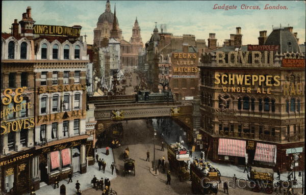 View of Ludgate Circus London England