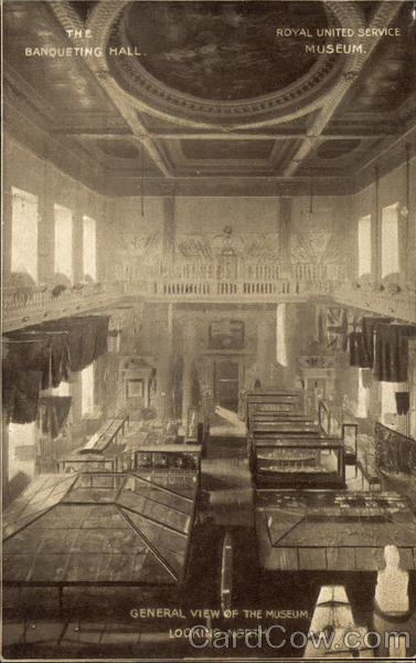 The banqueting Hall - Royal United Service Museum - General view of the Museum, looking North London