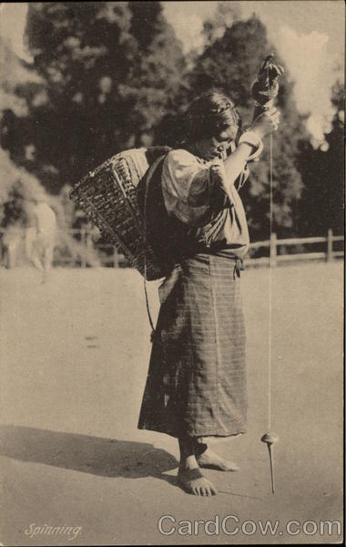 Indian Woman Spinning Asian