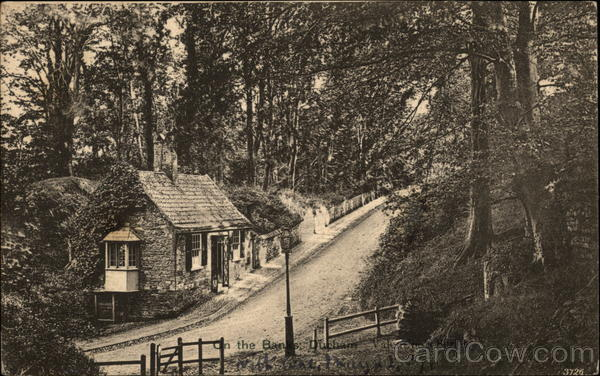 Old House Along Road in the Woods United Kingdom