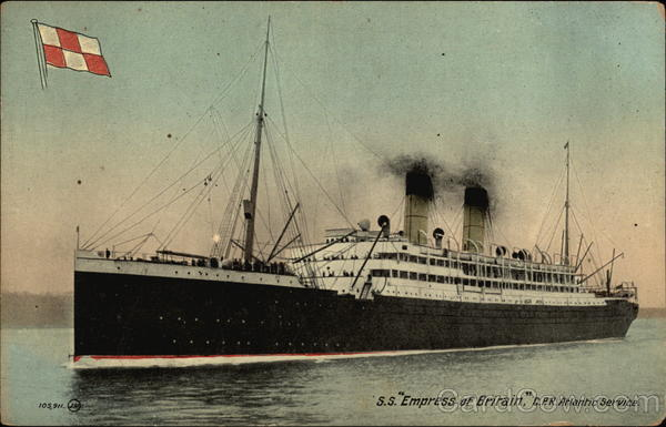 S.S. Empress of Britain - C.P.R. Atlantic Service Cruise Ships