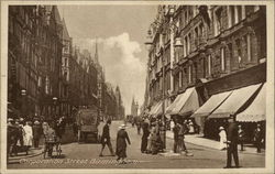 Looking Up Corporation Street Postcard