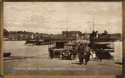 Floating Bridge ahowing Woolston Postcard
