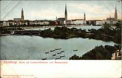 View of Lombartsbrucke and Binnenalster