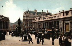 The Bank and Mansion House Postcard