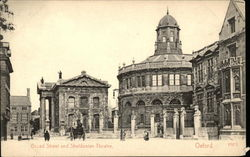 Broad Street and Sheldonian Theatre Postcard