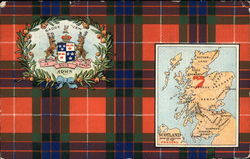 Map of Scotland and Coat of Arms