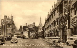 Oriel College Front (Founded A.D. 1326), and St. Mary's Spire
