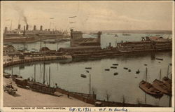 General View of Dock Postcard
