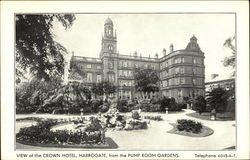 Crown Hotel from the Pump Room Gardens