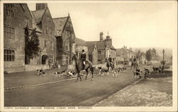 North Cotswold Hounds Passing Lygon Arms, Broadway