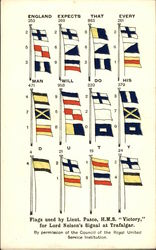 Flags Used by Lieut. Pasco, HMS Victory