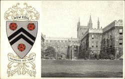 New College Postcard