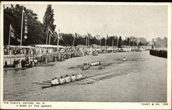 Oxford Eights - A Bump at the Barges Postcard