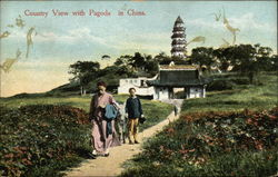Country View with Pagoda