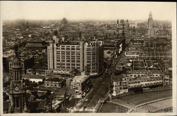 Aerial View of Nanking Road Vintage Post Card