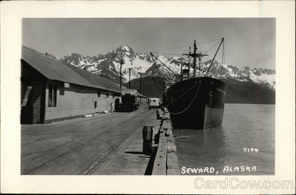 Boat at Dock Seward Alaska