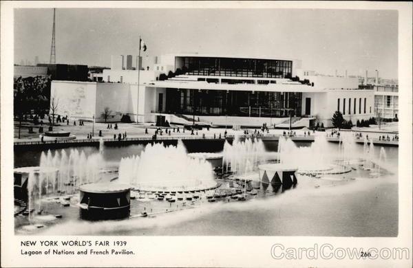 Lagoon of Nations and French Pavilion 1939 NY World's Fair