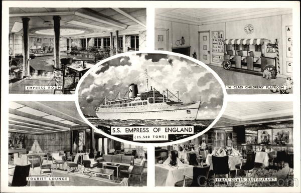 Views of SS Empress of England Boats, Ships