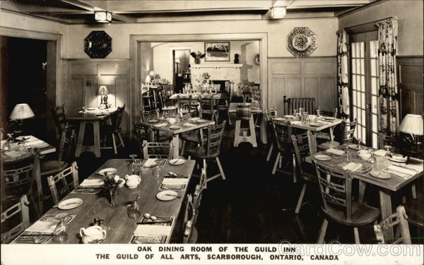 The Guild of All Arts, Oak Dining Room of the Guild Inn Scarborough Canada