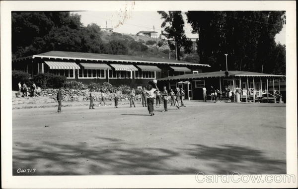 Children Playing at Presbyterian Conference Grounds Pacific Palisades California