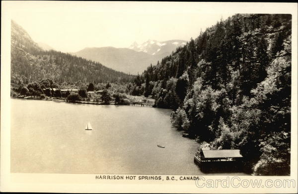 Aerial View Harrison Hot Springs Canada British Columbia