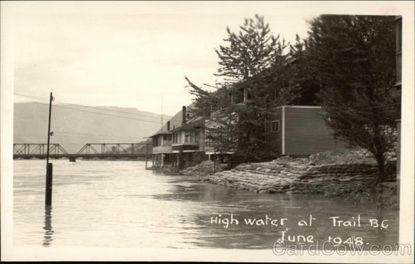 High Water June 1948 Trail Canada British Columbia