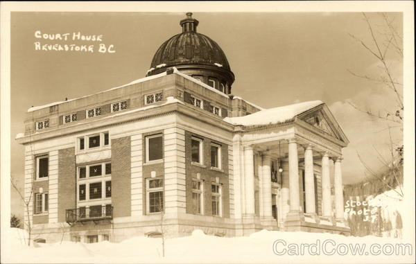 View of Court House Revelstoke Canada British Columbia