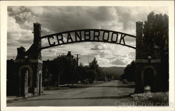 View of Arch Cranbrook Canada British Columbia