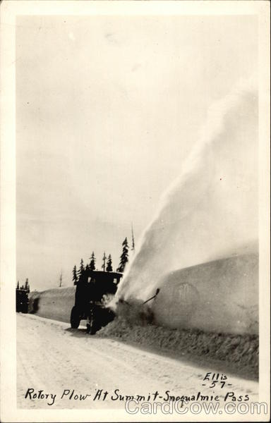 Rotary Plow at Summit, Snoqualmie Pass Washington