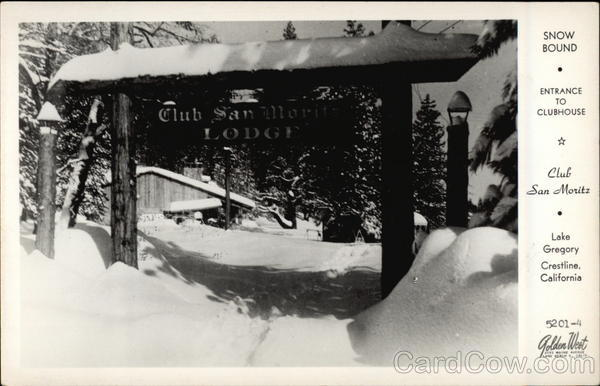 Club San Moritz, Lake Gregory - Entrance to Clubhouse Crestline California