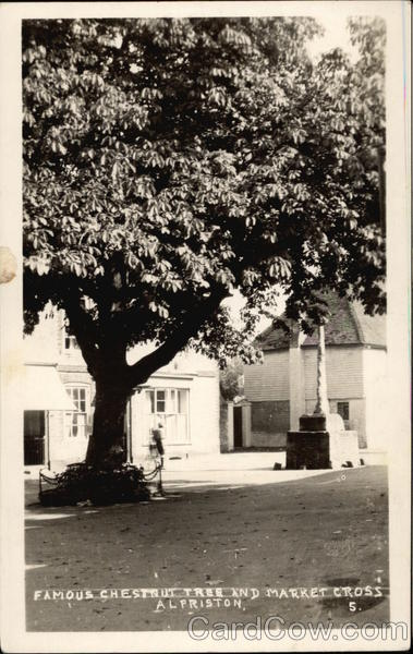 Famous Chestnut Tree and Market Cross Alfriston UK