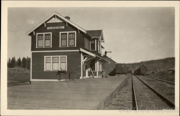 Railway Station Building & Tracks Quesnel Canada British Columbia