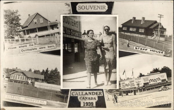 Views of the Dionne Quintuplet's Home Callander Canada