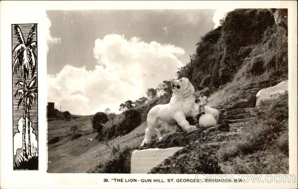 The Lion, Gun Hill St. Georges Barbados Caribbean Islands