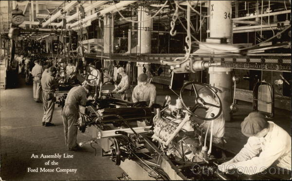 An Assembly Line Of The Ford Motor Company Dearborn Mi