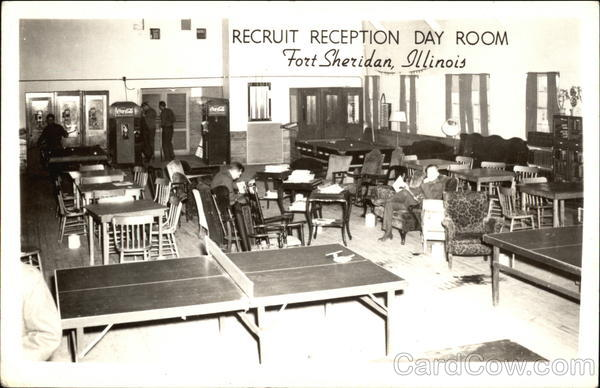 Recruit Reception Day Room Fort Sheridan Illinois