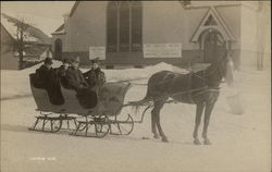 Family in Horse Drawn Sleigh