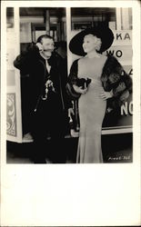 Mae West Posing With Man