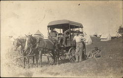 Soldiers on Cart Pulled by Horses